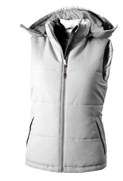 Dames gravel bodywarmer wit